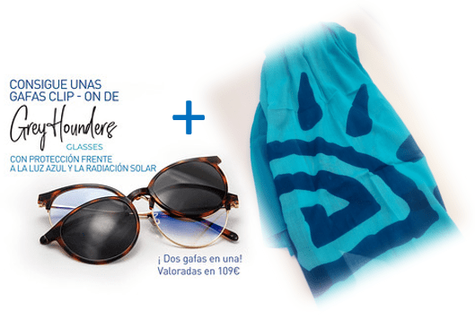 Gafas Grey Hounders color Habana + Pareo Solar